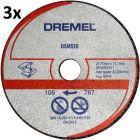Dremel fém és műanyag vágókorong 3db/csom DSM510
