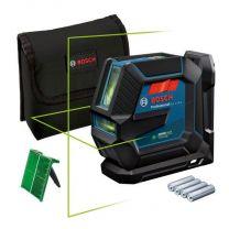 GLL 2-15 G Zöld Vonallézer + LB 10 Bosch