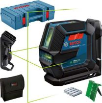 GLL 2-15 G Zöld Vonallézer + LB 10 + DK 10 + koffer Bosch